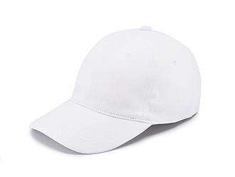 Šestipanelová čepice bez zapínání, bílá