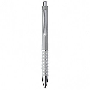 LANDRY Kuličkové pero, modrá náplň, třpytivé efekty v úchopu, šedé - psací potřeby