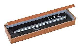 BILBAO KP s ukazovátkem a světlem v dřevěné krabičce