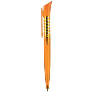 SPIRAL transparentní kuličkové pero oranžové, modrá náplň