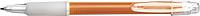 BANGO transparentní kuličkové pero, oranžové - psací potřeby