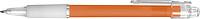 BANGO transparentní kuličkové pero, oranžové