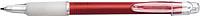 BANGO transparentní kuličkové pero, červená - psací potřeby