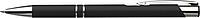 NILES Kuličkové pero se stříbrným klipem, modrá náplň, černé