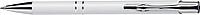 NILES Kuličkové pero se stříbrným klipem, modrá náplň, bílé