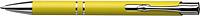 NILES Kuličkové pero se stříbrným klipem, modrá náplň, žluté