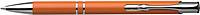 NILES Kuličkové pero se stříbrným klipem, modrá náplň, oranžové - psací potřeby