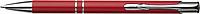 NILES Kuličkové pero se stříbrným klipem, modrá náplň, červené - psací potřeby