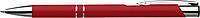NILES Kuličkové pero se stříbrným klipem, modrá náplň, červené