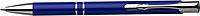 NILES Kuličkové pero se stříbrným klipem, modrá náplň, modré - psací potřeby