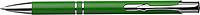 NILES Kuličkové pero se stříbrným klipem, modrá n., zelená