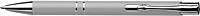 NILES Kuličkové pero se stříbrným klipem, modrá náplň, stříbrné - psací potřeby