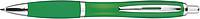 JORGE Plastové kuličkové pero, zelené - psací potřeby