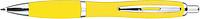 JORGE Plastové kuličkové pero, žluté