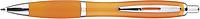JORGE Plastové kuličkové pero, oranžové - psací potřeby