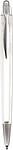 NERO transparentní kuličkové pero, bílá - psací potřeby