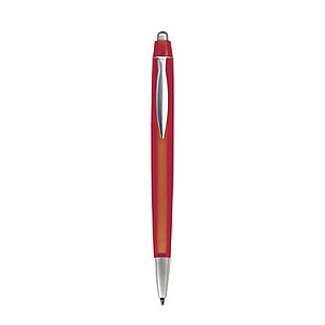 NERO transparentní kuličkové pero , červené - psací potřeby