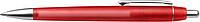 NERO transparentní kuličkové pero , červené