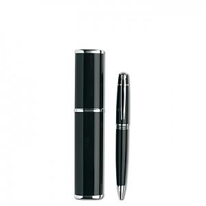 Kovové kuličkové pero v hliníkové dárkové krabičce, černá
