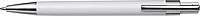 VALTR Plastové KP s kovovým klipem, černá náplň, bílé - psací potřeby
