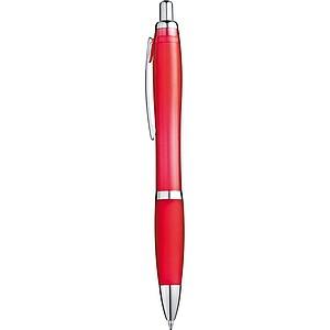 Kuličkové pero, modrá náplň, červené