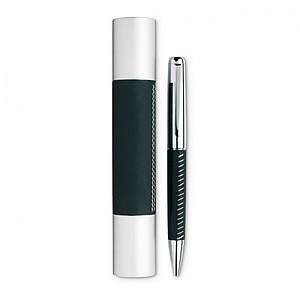 Kovové kuličkové pero v kovovém pouzdře, černá