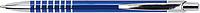 SERAK Hliníkové kuličkové pero s kroužky na úchopu a modrou náplní, modré - psací potřeby