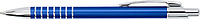 SERAK Hliníkové kuličkové pero s kroužky na úchopu a modrou náplní,kobaltově modré