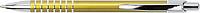 SERAK Hliníkové kuličkové pero s kroužky na úchopu a modrou náplní, žluté