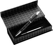 QUAD Kovové KP s náhradní náplní v krabičce, černá náplň, černá