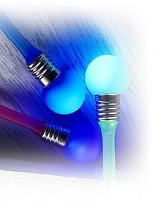 BULÍK Světélkující kuličkové pero, modrá náplň, růžová