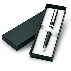 Kovové kuličkové pero v krabičce, černá