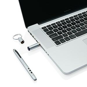 Multifunkční pero 4 v 1, stříbrné