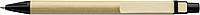 PINOKIO Kartonové kuličkové pero s dřevěným klipem, černé