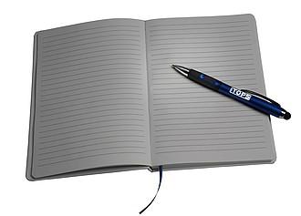 GAVARO Kuličkové pero s LED světlem, modrá
