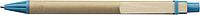 PINOKIO Kartonové kuličkové pero s dřevěným klipem, modré