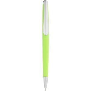 Plastové kuličkové pero, modrá náplň, světle zelená