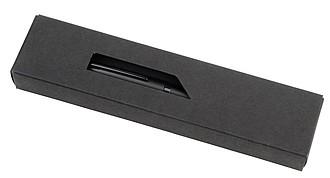 ANDULO Kovové kuličkové pero, modrá náplň, černá.