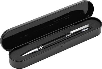 MAKEMA KP se stříbrnými detaily v plechové krabičce, černá n.,černé