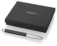 Kovové kuličkové pero Balmain se stylusem, černá, stříbrná