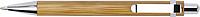 Dřevěné kuličkové pero s modrou n. a kovovými detaily