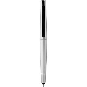 Kuličkové pero s USB flash diskem 4GB, stříbrná
