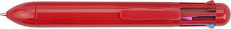 MAHI Vícebarevné kuličkové pero s plastovým tělem, červené
