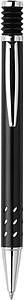 GIZELA Kuličkové pero, černá náplň, stříbrný klip, černé