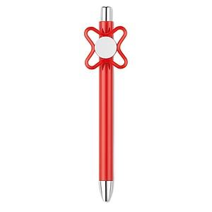 SELVE Otočné kuličkové plastové pero se spinnerem, červená