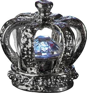 Tenké kovové KP s modrou náplní, krystalem Swarovski a korunkou