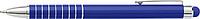 MENTAN Hliníkové lakované kuličkové pero, stylus, modrá náplň, modré