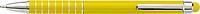 MENTAN Hliníkové lakované kuličkové pero, stylus, modrá náplň, žluté