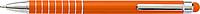 MENTAN Hliníkové lakované KP, stylus, modrá náplň, oranžové - psací potřeby
