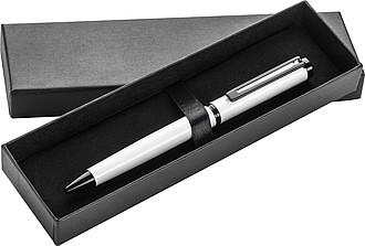 Černobílé KP s modrou n. v papírové krabičce